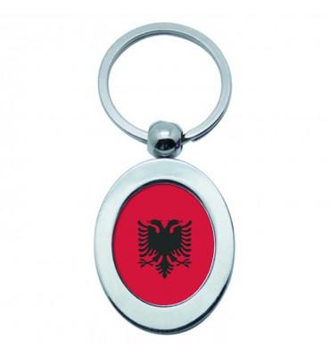 Porte-clés Ovale Métal Albanie
