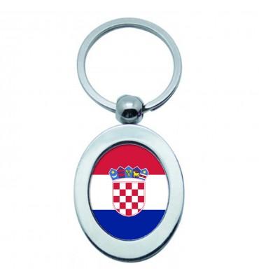 Porte-clés Ovale Métal Croatie
