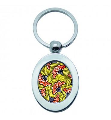 Porte-clés Ovale Métal Wax...