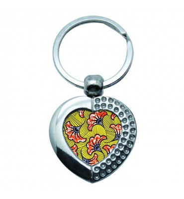 Porte-clés Coeur Métal Wax...