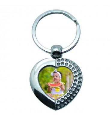 Porte-clés Coeur Métal...