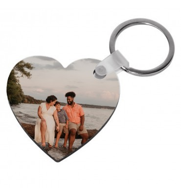 Porte-clés Coeur en Bois
