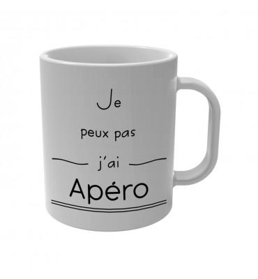 Mug Je peux pas j'ai Apéro