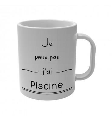 Mug Je peux pas j'ai Piscine