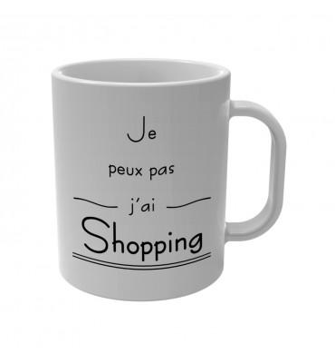 Mug Je peux pas j'ai Shopping