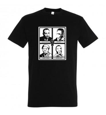 T-shirt Adulte Noir Hommage...