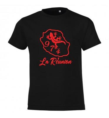 T-shirt noir Homme Ile de...