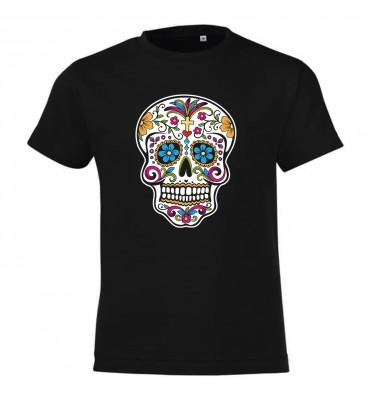T-shirt noir Adulte Tête de...