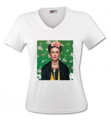 T-shirt Femme Col V Frida...