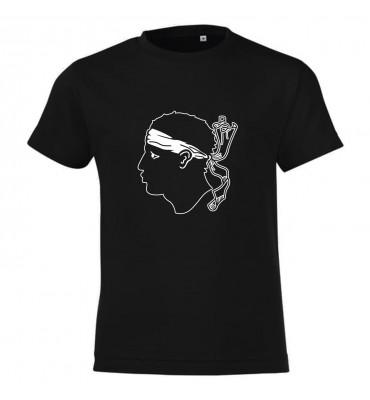 T-shirt Adulte Noir Corse 9...