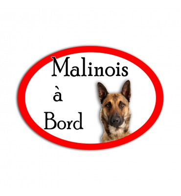 Magnet Ovale Chien Malinois...