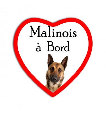 Magnet Coeur Chien Malinois...