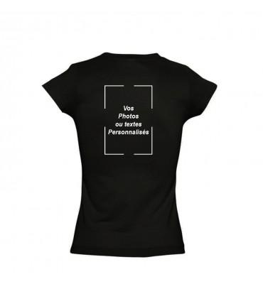 T-shirt Femme Col V Noir...