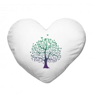 Coussin Cœur Arbre de vie