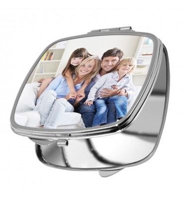 Miroir de Poche Carré Arrondis