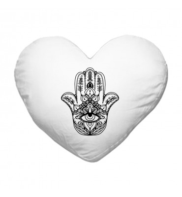 Coussin Cœur Main de Fatma